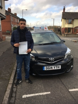 A big congratulations to Nahman Ulhauque, who has passed his driving test at Cobridge Driving Test Centre, with 6 driver faults.<br /> Well done Nahman - safe driving from all at Craig Polles Instructor Training and Driving School. 🚗😀- Instructor Saiqa Nawaz