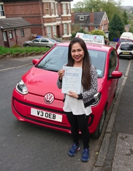 A big congratulations to Nammie Jones, who has passed her driving test at Newcastle Driving Test Centre, with 8 driver faults.<br />