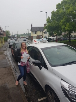 A big congratulations to Nicole Key, who has passed her driving test today at Cobridge Driving Test Centre with just 5 driver faults.<br />