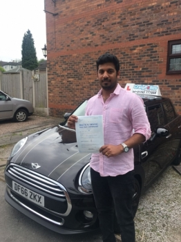 A big congratulations to Alen Alex, who has passed his driving test today at Newcastle Driving Test Centre.<br />