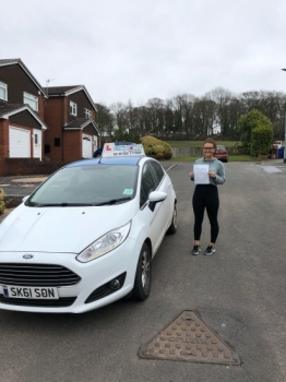 A big congratulations to Paige Frost, who has passed her driving test today at Cobridge Driving Test Centre, with just 5 driver faults.<br />
