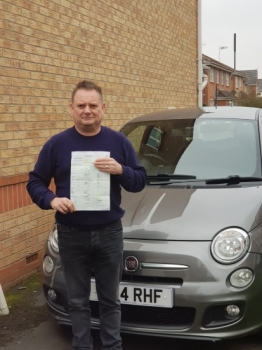 Congratulations today, go to Paul Lees. <br /> <br /> Paul has passed his ADI Part 2 test at Newcastle driving test centre at the first attempt and with a fantastic &acute;0&acute; driver faults.<br /> <br /> Huge well done Paul. 👍<br /> <br /> Trainer - Craig Polles