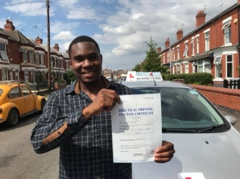 A big congratulations to Peter Archer, who has passed his driving test toady at Crewe Driving Test Centre.<br />