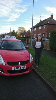 A big congratulations to Rebecca Morris, who has passed her driving test today at Crewe Driving Test Centre. First time and with just 4 driver faults.<br /> Well done Rebecca - safe driving from all at Craig Polles Instructor Training and Driving School. 🚗😀