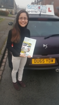A big congratulations to Rhea Meakin, who passed her driving test today at Cobridge Driving Test Centre, with 7 driver faults.<br /> Well done Rhea - safe driving from all at Craig Polles Instructor Training and Driving School. 🚗😀