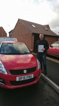 A big congratulations to Richard Sumner, who has passed his driving test today at Crewe Driving Test Centre, with just 4 driver faults.<br />