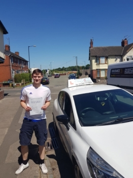A big congratulations to Robert Franklin, who has passed his driving test toady at Cobridge Driving Test Centre.<br />