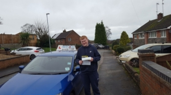 A big congratulations to Ronan Proud, who has passed his driving test today at Cobridge Driving Test Centre, at his First attempt and with just 6 driver faults.<br />