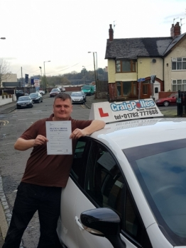 A big congratulations to Ryan Denton, who has passed his driving test today at Cobridge Driving Test Centre. First time and with just 2 driver faults.<br /> Well done Ryan - safe driving from all at Craig Polles Instructor Training and Driving School. 🚗😀