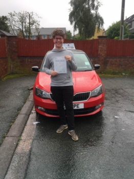 A big congratulations to Sam Billinge. Sam passed his driving test today, at Cobridge Driving Test Centre first time and with just 5 driver faults. <br /> Well done Sam - safe driving from all at Craig Polles instructor training and driving school.🚗😀