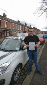 A big congratulations to Sean Houlston, who has passed his driving test today at Crewe Driving Test Centre, with just 3 driver faults.<br /> Well done Sean - safe driving from all at Craig Polles Instructor Training and Driving School. 😀🚗<br /> Instructor-John Breeze