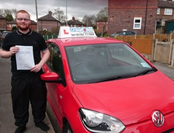 A big congratulations to Shane Dixon, who has passed his driving test at Newcastle Driving Test Centre, at his First attempt and with just 6 driver faults.<br />