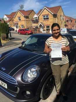 A big congratulations to Shani Abraham, who has passed her driving test today at Buxton Driving Test Centre.<br />