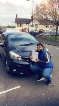 A big congratulations to Shohaib Ahmed, who has passed his driving test today at Cobridge Driving Test Centre, with 7 driver faults.<br />