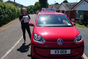 A big congratulations to Sophie Simmonds, who has passed her driving test toady at Newcastle Driving Test Centre,<br />