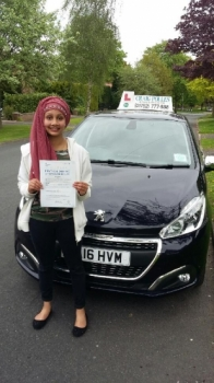 A big congratulations to Tazrabin Jawadin, who has passed her driving test today at Newcastle Driving Test Centre, with 7 driver faults.<br /> Well done Tazrabin - safe driving from all at Craig Polles Instructor Training and Driving School. 😀🚗<br /> Instructor-Mark Ashley