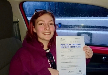 A big congratulations to Tegan Hyett , who has passed her driving test today at Newcastle Driving Test Centre, with 8 driver faults.<br />