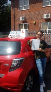A big congratulations to Tessa Cournoyer, who has passed her driving test today at Newcastle Driving Test Centre.<br />