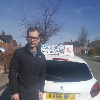 A big congratulations to Todd Thompstone, who has passed his driving test at Cobridge Driving Test Centre, at his First attempt and with just 4 driver faults.<br /> Well done Todd - safe driving from all at Craig Polles Instructor Training and Driving School. 😀🚗<br /> Instructor-Dave Wilshaw