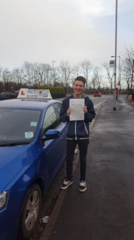 A big congratulations to Tom Baillie, who has passed his driving test today at Cobridge Driving Test Centre, with 6 driver faults.<br /> Well done Tom - safe driving from all at Craig Polles Instructor Training and Driving School. 🚗😀