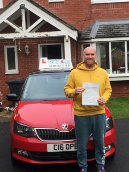 A big congratulations to Tom McCormick, who has passed his driving test today at Cobridge Driving Test Centre, at his First attempt and with just 2 driver faults.<br /> Well done Tom - safe driving from all at Craig Polles Instructor Training and Driving School. 🚗😀