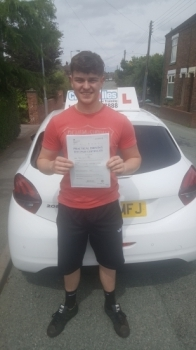 A big congratulations to Tom Powell, who has passed his driving test at Cobridge Driving Test Centre.<br />