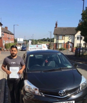 A big congratulations to Umar Abrar Hussain, who has passed his driving test today at Cobridge Driving Test Centre.<br />