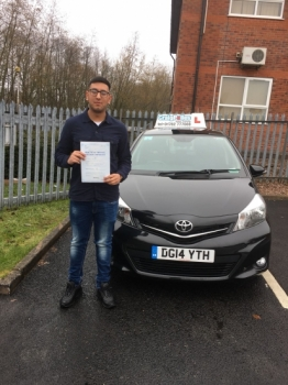 A big congratulations to Usnain Sajid, who has passed his driving test today at Newcastle Driving Test Centre, with just 4 driver faults.<br /> Well done Usnain - safe driving from all at Craig Polles Instructor Training and Driving School. 😀🚗<br /> Instructor Saiqa Nawaz