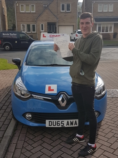 Brilliant pass 1st time well done
