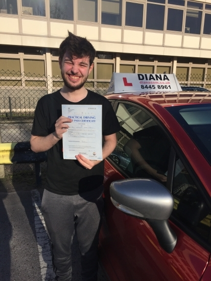 Before I started lessons I was a bit overconfident about how easy driving would be to pick up. With Diana's patience, especially when making beginners' mistakes, and firm guidance she helped me quickly overcome the few bad habits I picked up along the way and made sure I was fully prepared for my test. I would highly recommend Diana to anyone looking to learn to drive or gain confidence in the