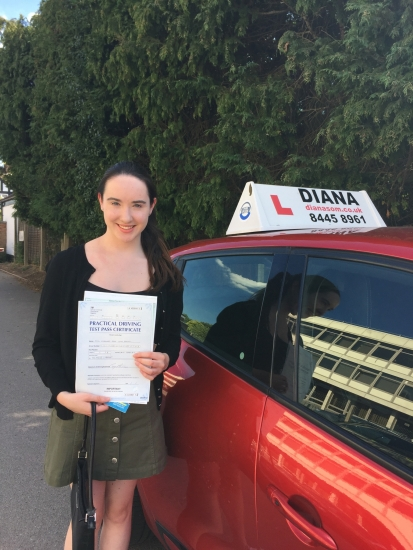 Thank you so much Diana for taking your time to teach me how to drive I have learnt so much from you and it has helped me to become a confident driver I would definitely recommend Diana to anyone wanting to learn how to drive