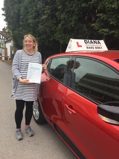 I would highly recommend Diana. She was so calm, patient and encouraging. She made sure I was 100% prepared for my test, which was particularly important given my deadline (39 weeks pregnant). Thank you so much Diana.