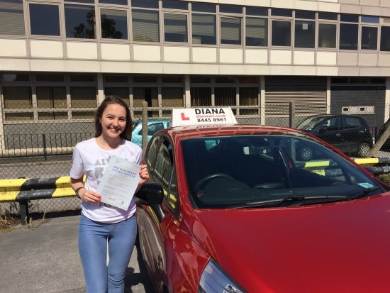 Well done Jasmine great pass in Barnet🚗