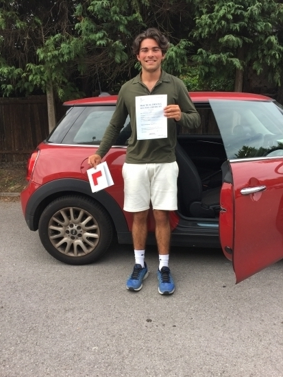 Olly passed 1st time with Diana<br />