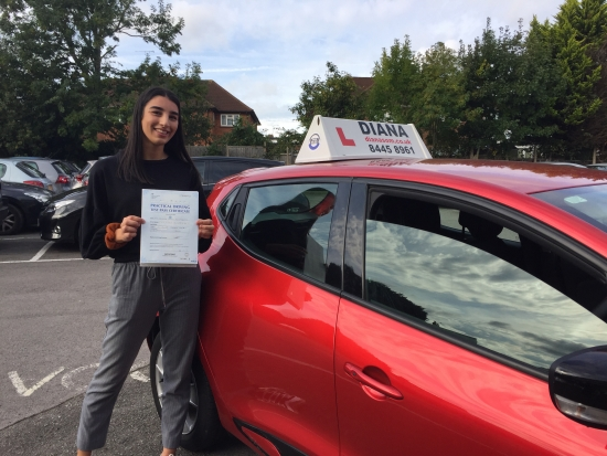 Well done Georgia 2minors in Barnet<br /> <br /> Brill XxD<br /> <br /> Thank you so much Diana We are all so delighted Georgia has enjoyed every single lesson She says you are a great teacher patient and calm Good luck with future students and if you are still working in 6 years Iacute;ll call you to teach my 11 year old to drive Best wishes Toulla xxxx