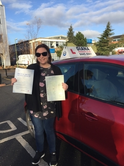 Well done Evie all your hard work paid off<br /> <br /> 0 faults 😆<br /> <br /> <br /> <br /> I couldn't recommend Diana enough she took me from being terrified to a confident driver and I passed first time with no minors Thank you so much for being patient with me and for being such a great driving instructor X