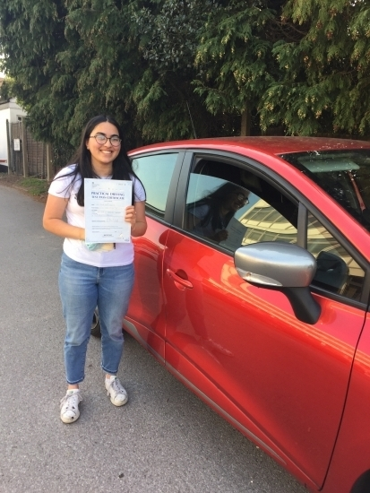 Julia passed on her first attempt with Diana<br />