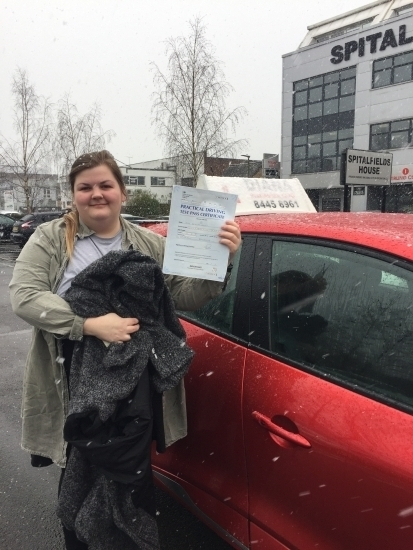 """Diana is very passionate about teaching and helped me become confident  in my driving skills. She is very calm and  professional. Im very happy I passed my first time, with only two marks. Would highly recommend Diana. """