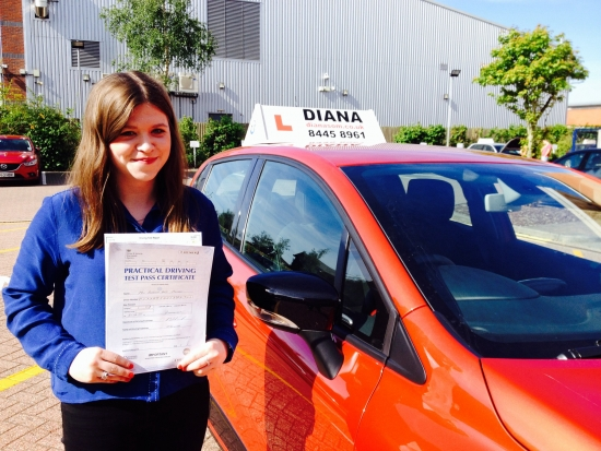 Well done Rebecca so proud of you passing 1st time you put so much hard work into learning to drive-you deserve it😃 see you soon Diana