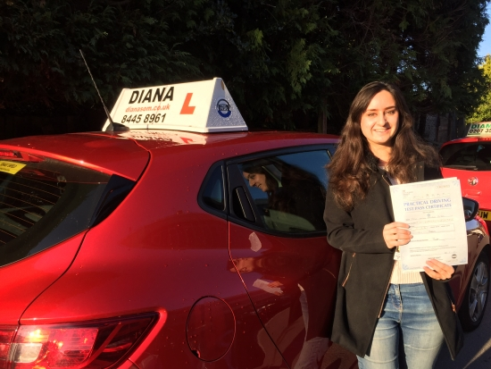 Diana is one of the best instructors you could get-extremely thoroughcalmfriendly and she improved my driving astronomically There is no way I could have passed without her guidance; I could not recommend her highly enough