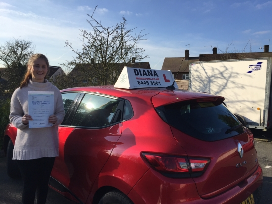 From knowing nothing about driving to passing 1st time Diana thank you so much for everything Iacute;m so happy I chose you to help me through this journey I was always very anxious about driving but Diana always calm and easy to talk to which made me less nervous thank you xxx