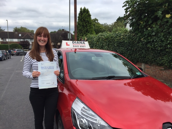Well done Laura youacute;ve come so far with your driving and Iacute;m so proud of you for persevering and passing your test <br />