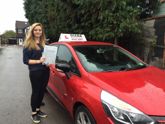 Well done Eleanor 3 minors in Barnet- brilliant