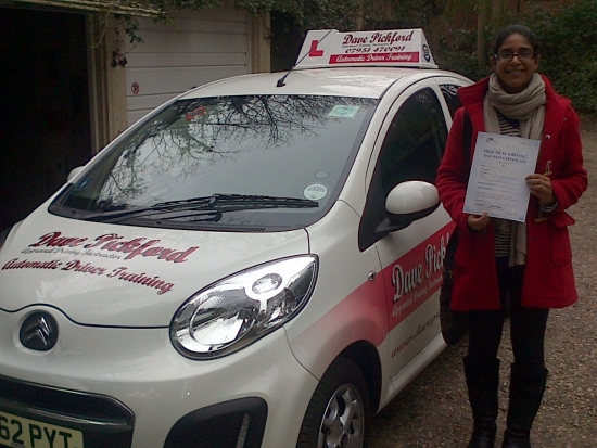 Congratulations to Sarah Ali who passed her Automatic Driving Test at Norwich MPTC Well done on a great drive you kept those nerves under control nicely im glad the Costa Coffee pitstop helped Remember to Stay Safe