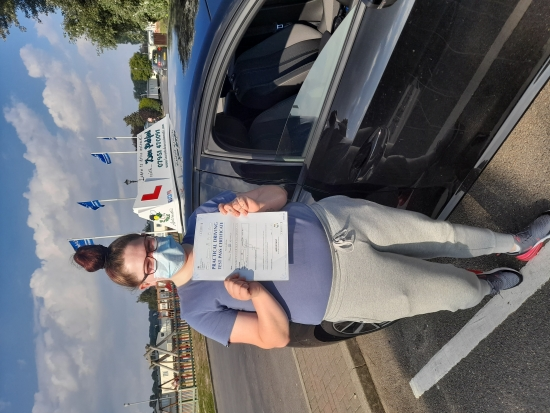 Congratulations to Madison who Passed her Automatic Driving Test this afternoon at Colchester in #Bumble <br /> I am so pleased for this young lady who kept her nerves under control nicely and showed the examiner exactly what they wanted to see, well done on a great drive 👌<br /> It´s been an absolute pleasure, enjoy the freedom and independence this now brings in that nice polo of yours, Stay Safe