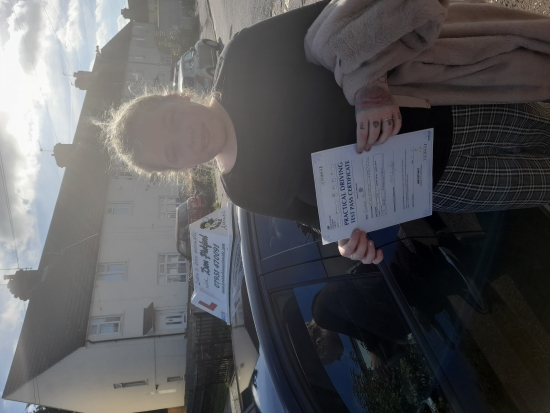 Congratulations to Gemma who Passed her Automatic Driving Test this afternoon at Colchester in #Bumble <br /> Well done on a great drive with some nice compliments from the examiner, I no it was a bit emotional at the end there but you fully deserve this.<br /> I no just how much this will mean to you and your family, I´m so pleased for you and proud of the way you handled yourself and kept those nerv