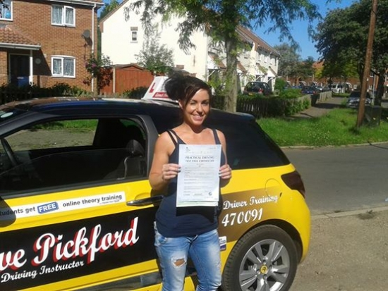 Congratulations to Chantelle who passed her Automatic Driving Test at Norwich MPTC this morning in Bumble<br /> <br /> Well done an excellent drive kept those nerves nicely at bay just remember to use that handbrake when needed that was your only fault that prevented a clean sheet remember to Stay Safe out there<br /> <br /> <br /> <br /> wwwlearntodriveautomaticcom