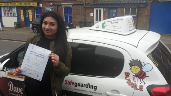 Congratulations to Jessey on passin her Automatic Driving Test this afternoon at Norwich MPTC in #Bumble<br /> <br /> Well done you handled yourself well and as commented on the driving was spot on you should be proud of yourself as you have worked hard and this is fully deserved<br /> <br /> Keep yourself safe out there and look forward to hearing from you in the near future<br /> <br /> wwwtpdctrainingcouk<br /> <br /> wwwlearntodri