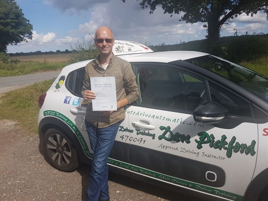 Congratulations to Nick M who passed his Automatic Driving Test this morning at #Norwich in #Bumble #TPDC<br /> <br /> Well done on what was described as a good sensible drive itacute;s been a pleasure and wish you all the best for the future Stay Safe<br /> <br /> wwwlearntodriveautomaticcom<br /> <br /> wwwthepersonaldevelopmentcompanycouk