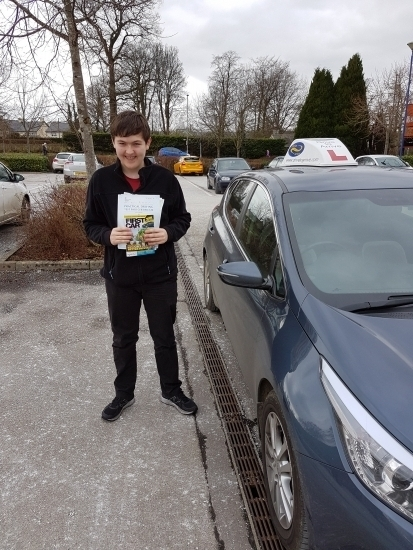 A big well done to Riordan who passed his test first time Congratulations